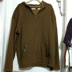 Cozy brown zip up sweathshirt